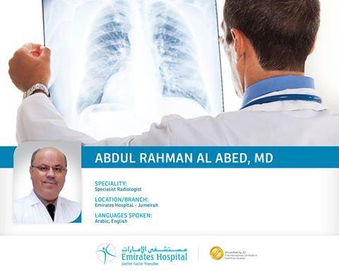 Abdul Rahman Al Abed Md Dubai Jumeirah Specialist Radiologist
