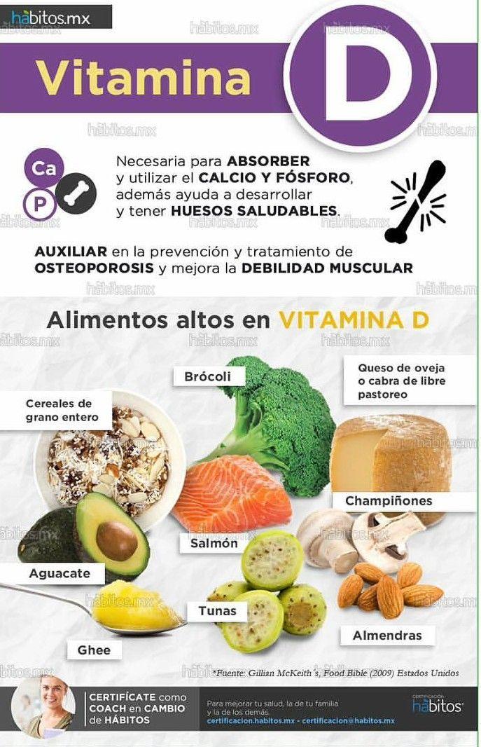 Alimentos altos en vitamina d healthy tips pinterest vitaminas alimentos y vida sana - Alimentos que contiene vitamina d ...
