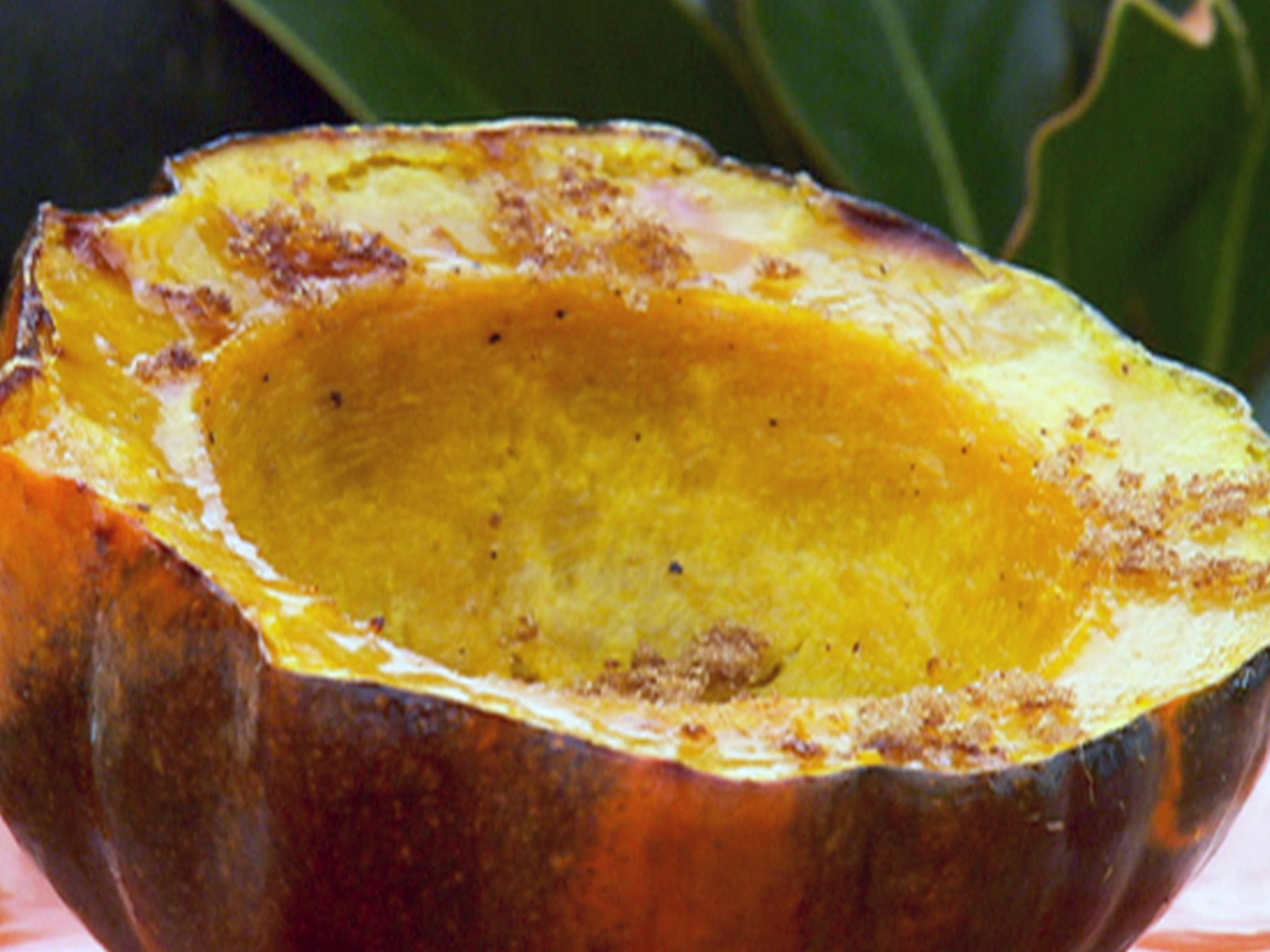 Baked Acorn Squash With Brown Sugar And Butter Recipe Acorn Squash Recipes Food Network Recipes Baked Squash