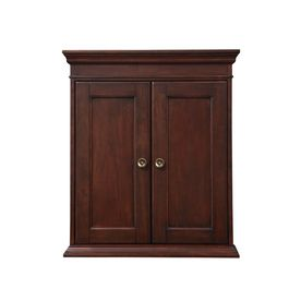 allen roth rosemere 28 in h x 24 in w x 7 in d auburn wall Cabinets Over Toilet Bathroom Wall Bathroom Shelf Over Toilet