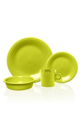 Fiesta 16-Piece Dinnerware Set - Lemongrass - One Size  sc 1 st  Pinterest & Fiesta 16-Piece Dinnerware Set - Yellow - One Size | Dinnerware sets ...