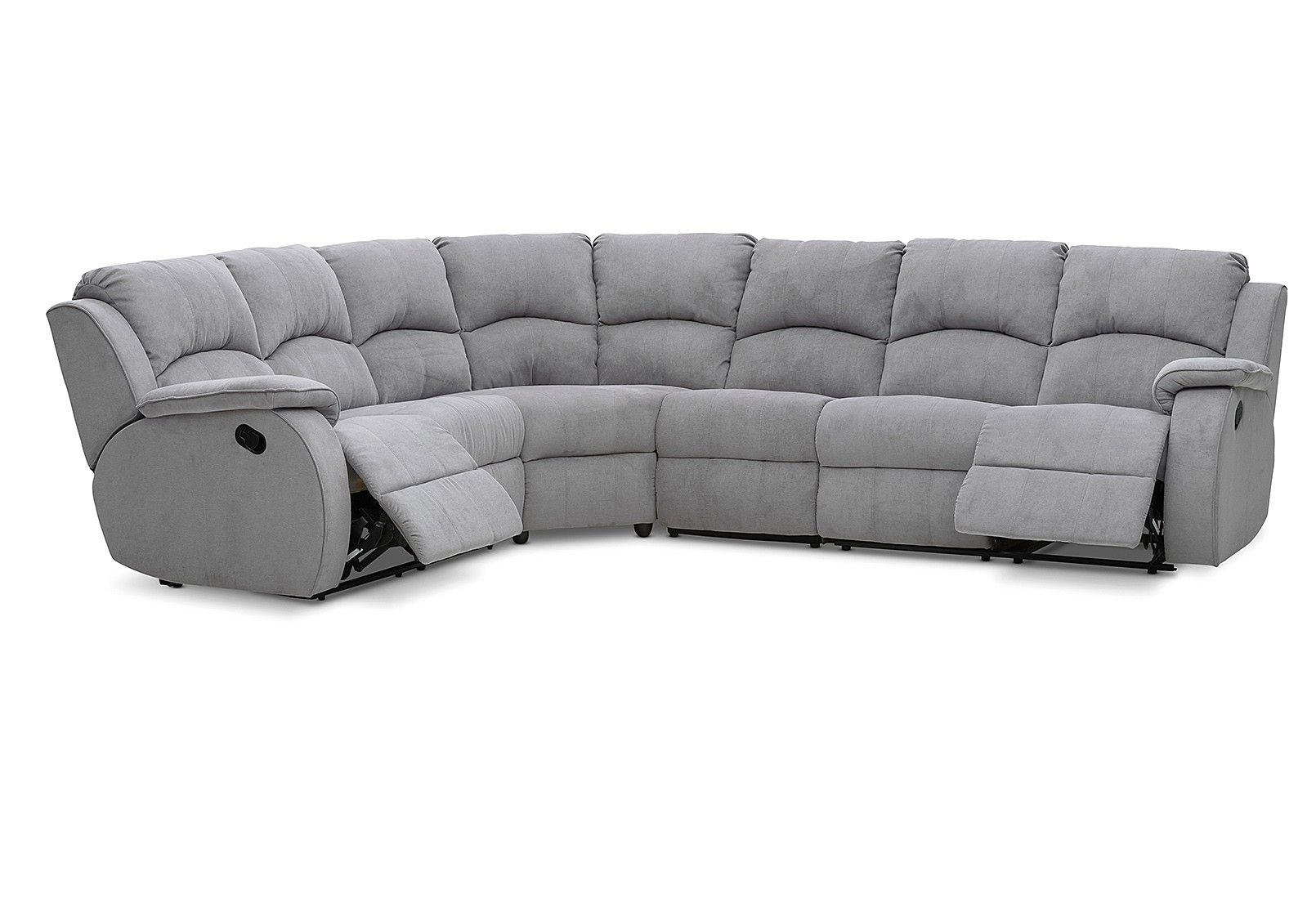 Saloon Fabric Corner Lounge With Inbuilt Recliners Amart Furniture Recliner Corner Sofa Grey Corner Sofa Lounge Furniture