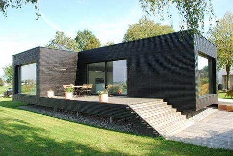 Une maison moderne préfabriquée où emménager dès demain - facade de maison moderne