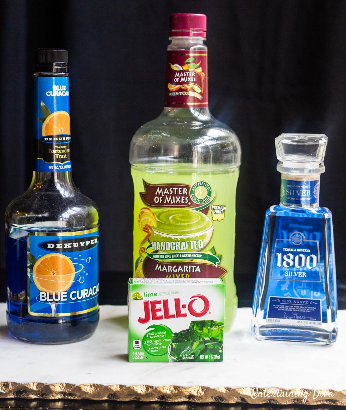 I Love This Margarita Jello Shots Recipe. Made With Blue