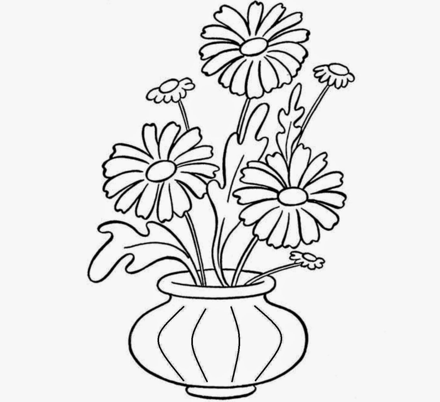 24 Inspirational Easy Drawing Of Flower Vase Flower Drawing Easy Drawings Flower Vases