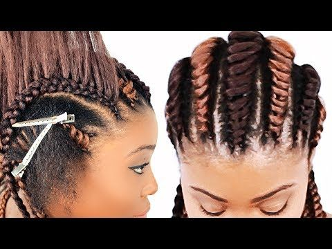 How To Rope Cornrow Braids For Beginners Step By Step Youtube Tree Braids Hairstyles Braided Hairstyles For Teens Braided Hairstyles