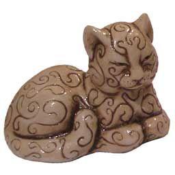 Фигурка: Кошка с узорами (№183) 4,7х6,2х4,5 | Узоры, Кошки ...