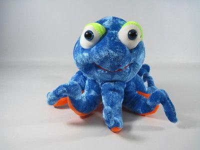 "Blue Orange Green Octopus Plush By Great American Toy Co. 6""t x 9""w Stuffed Toy"