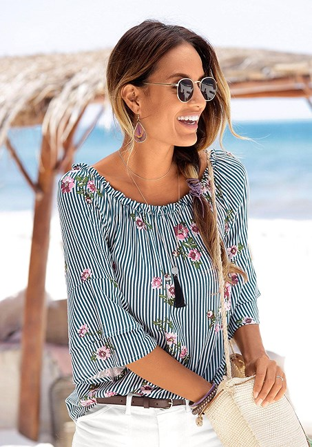 Pin Von Lascana Usa Auf Products You Tagged In 2019 Floral Tops