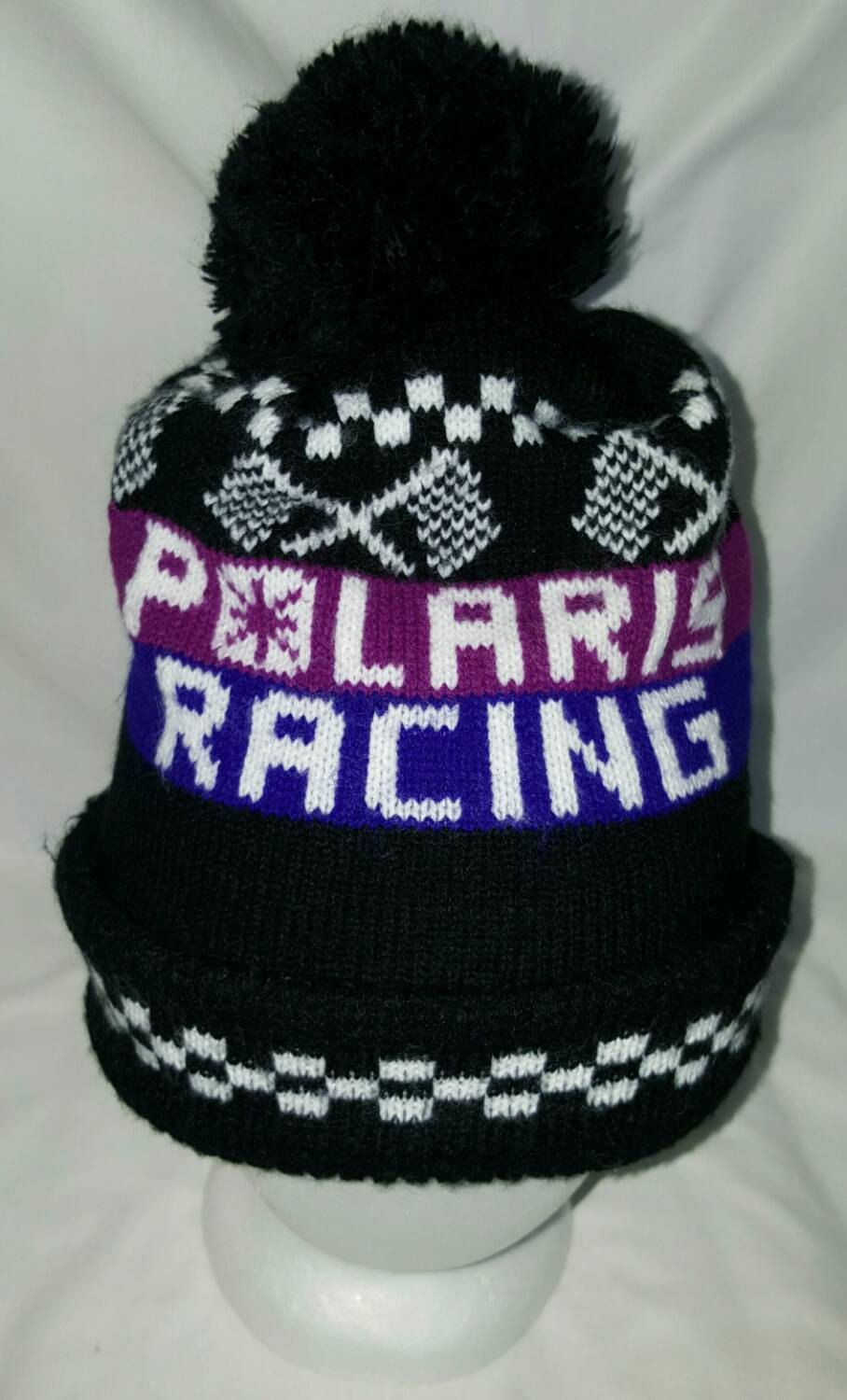 Polaris Racing Pompom Winter Hat by ResouledGypsy on Etsy 18f4feebcd1