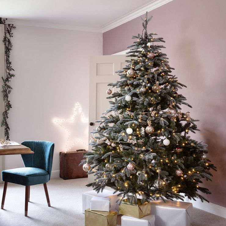 7ft Frosted Mountain Spruce Pre Lit Christmas Tree - 7ft Frosted Mountain Spruce Pre Lit Christmas Tree Christmas Tree