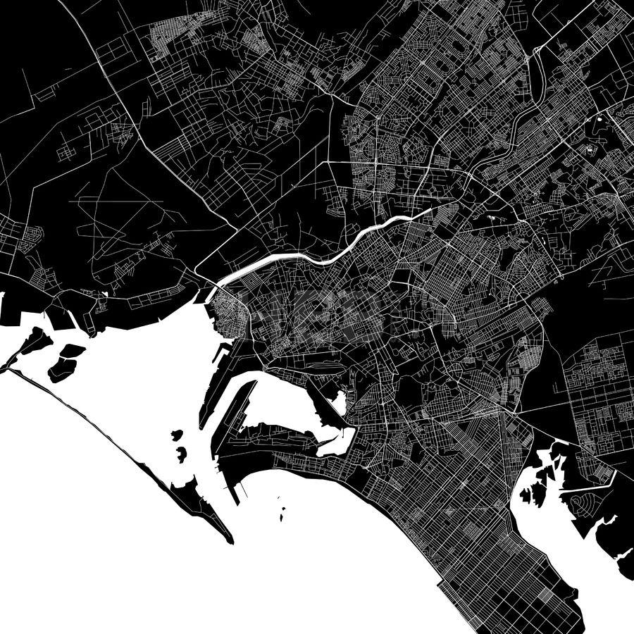 Karachi Pakistan Download PDF Map HEBSTREITS