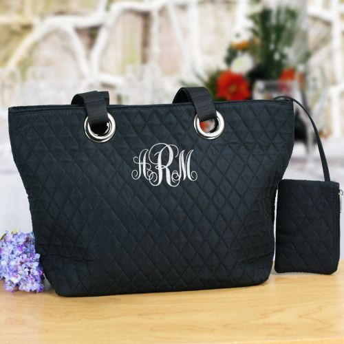 Personalized Monogram Quilted Bag
