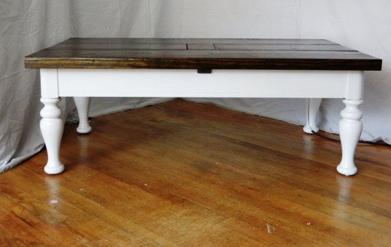 Traditional Coffee Table Charging Station With 4 Hidden Usb Ports In Center Coffeetable Charger