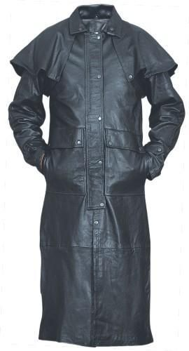 Men S Motorcycle Leather Duster With Removable Cape Long Leather Coat Leather Jacket Men Leather Coat