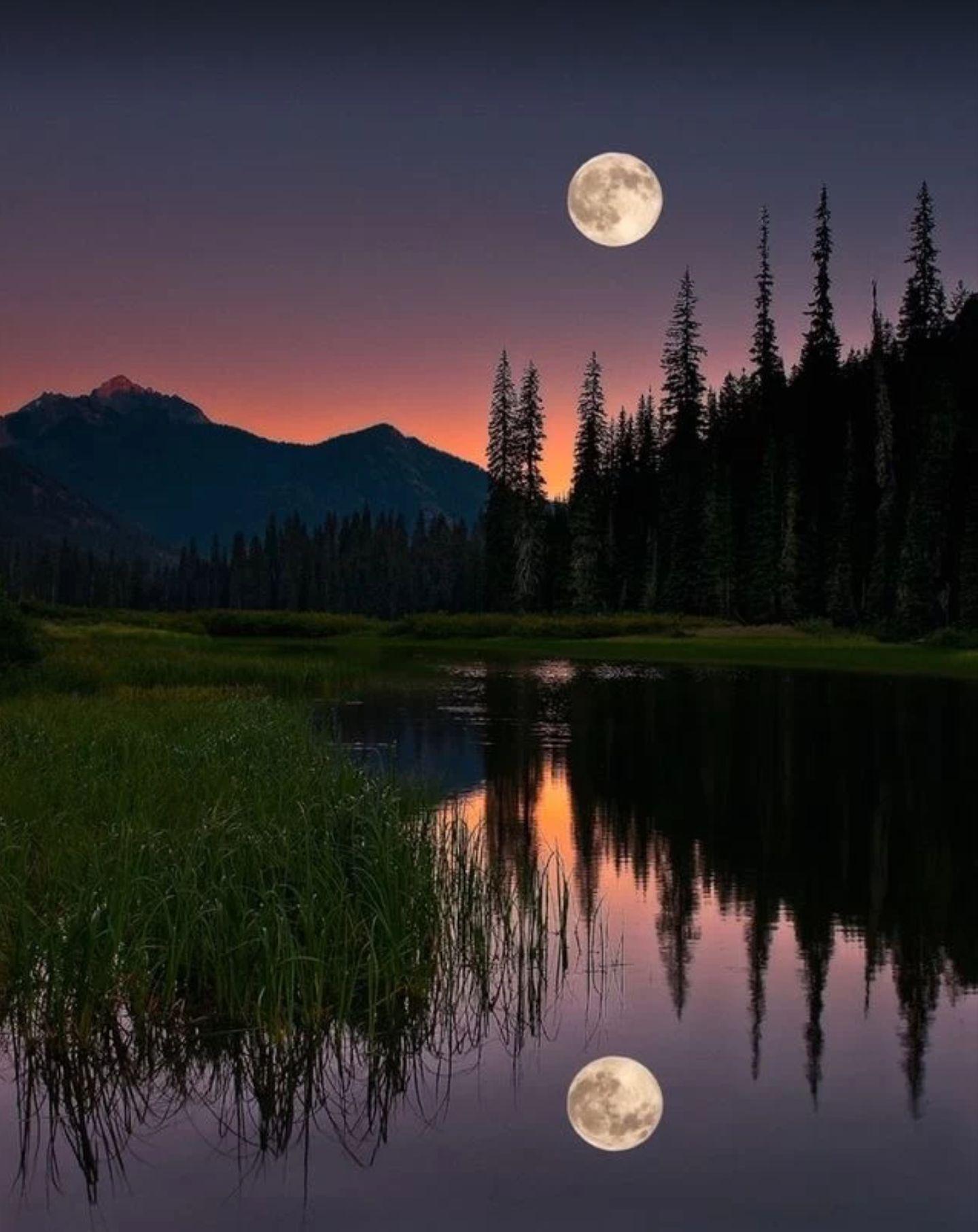 Moon Amazing Reflection Nature Photography Beautiful Moon Nature Photos
