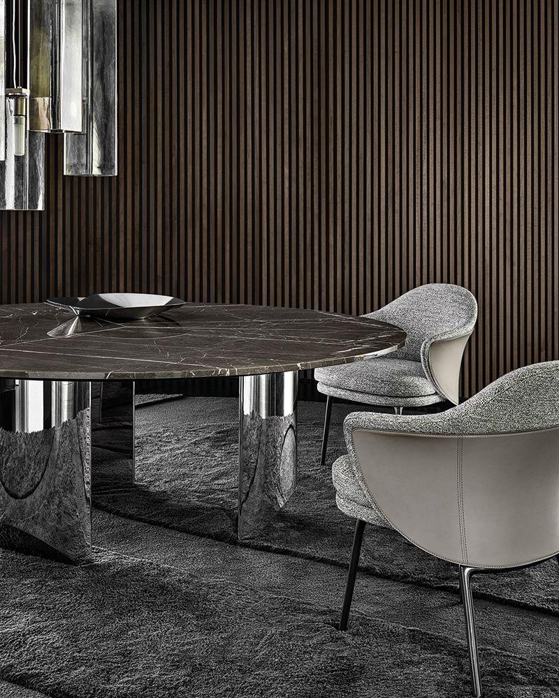 Wedge Dining Table Nendo Design Angie Dining Chair Gamfratesi Design Minotti Nendo Tabl Luxury Dining Chair Small Dining Room Chairs Vintage Dining Room