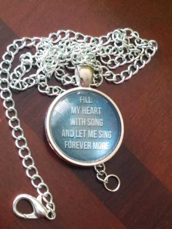 Frank Sinatra lyric pendant Fill My Heart with Song by VideoUnit12