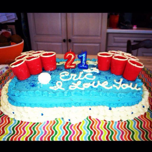 21st Birthday Cake I Made For My Boyfriend