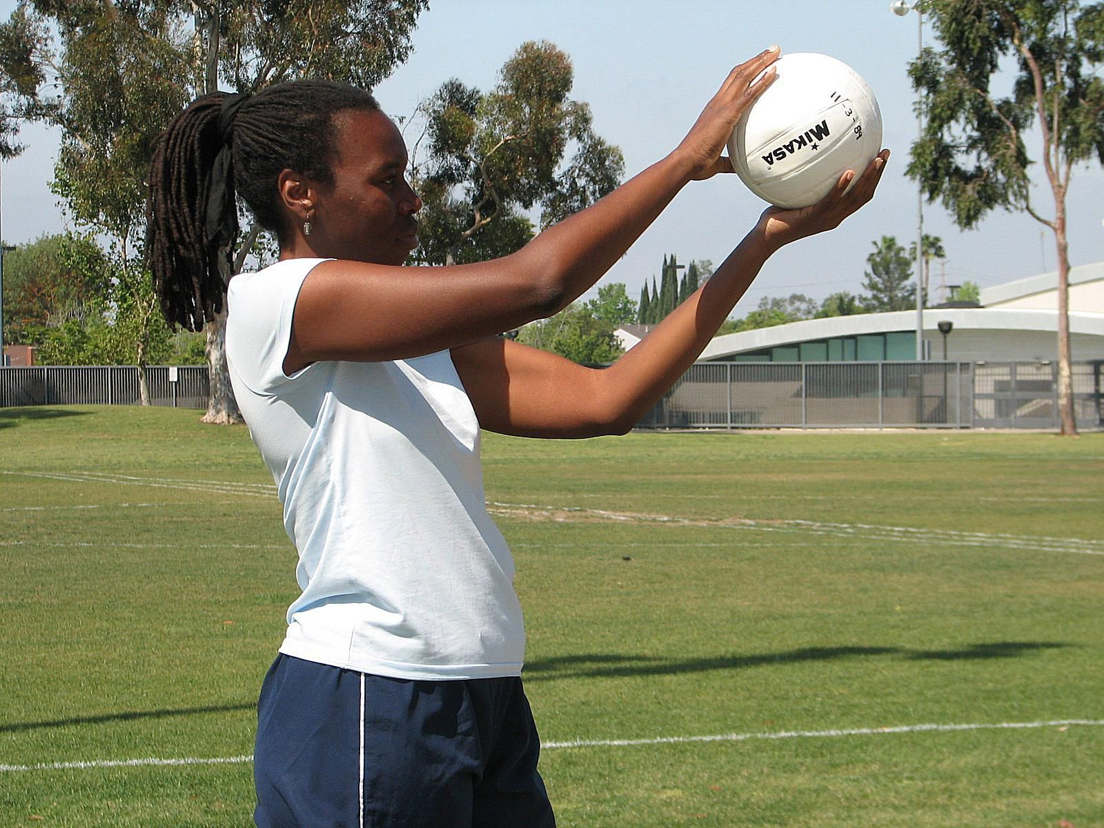 Learn The Overhand Serve In Volleyball Volleyball Serve Volleyball Skills Volleyball Workouts