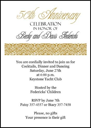 Customize these award winning and exclusive 50th wedding anniversary customize these award winning and exclusive 50th wedding anniversary golden roses party invitation all presently discounted stopboris Images