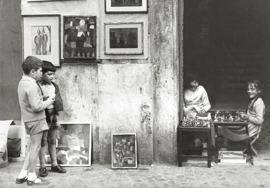 Mario Carbone, Via Margutta a Roma nel 1956