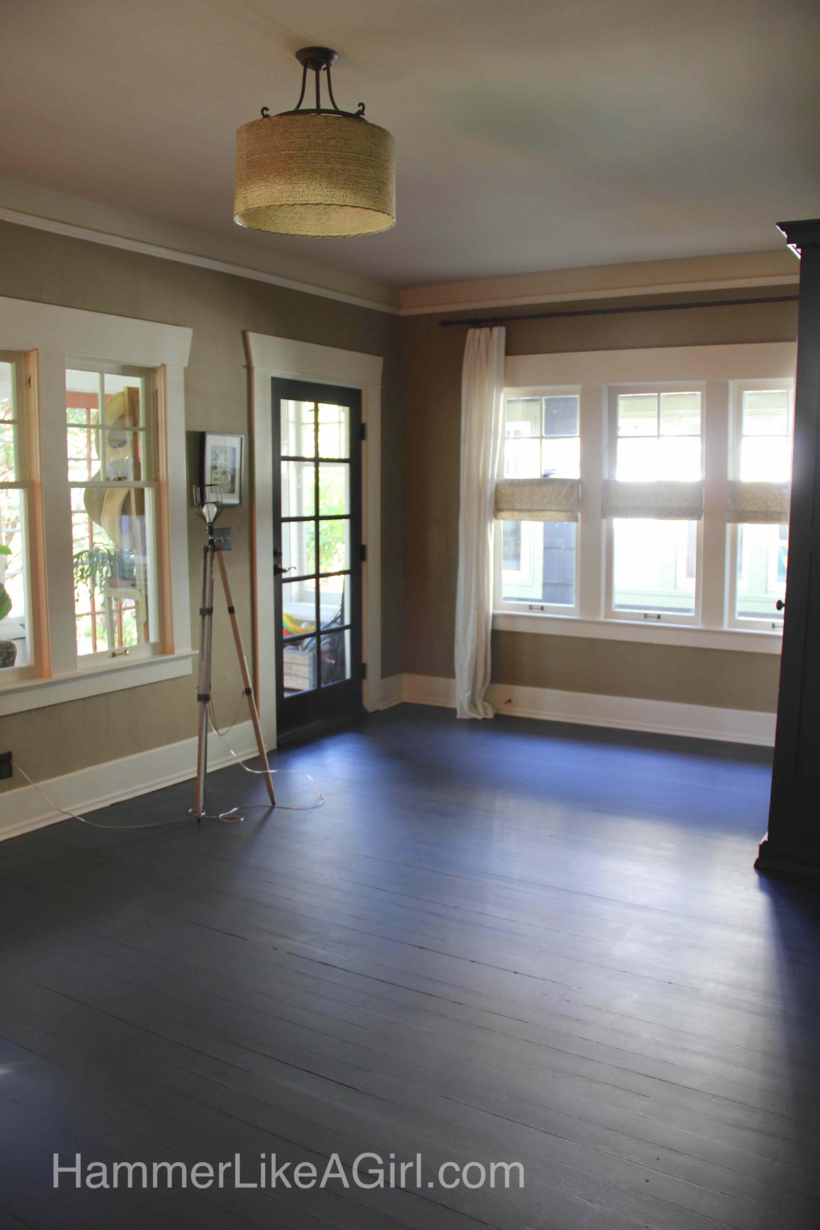 Painted Fir Floor