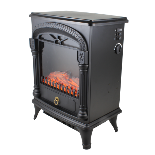 Comfort Zone CZFP4 Electric Fireplace Stove Heater, Black