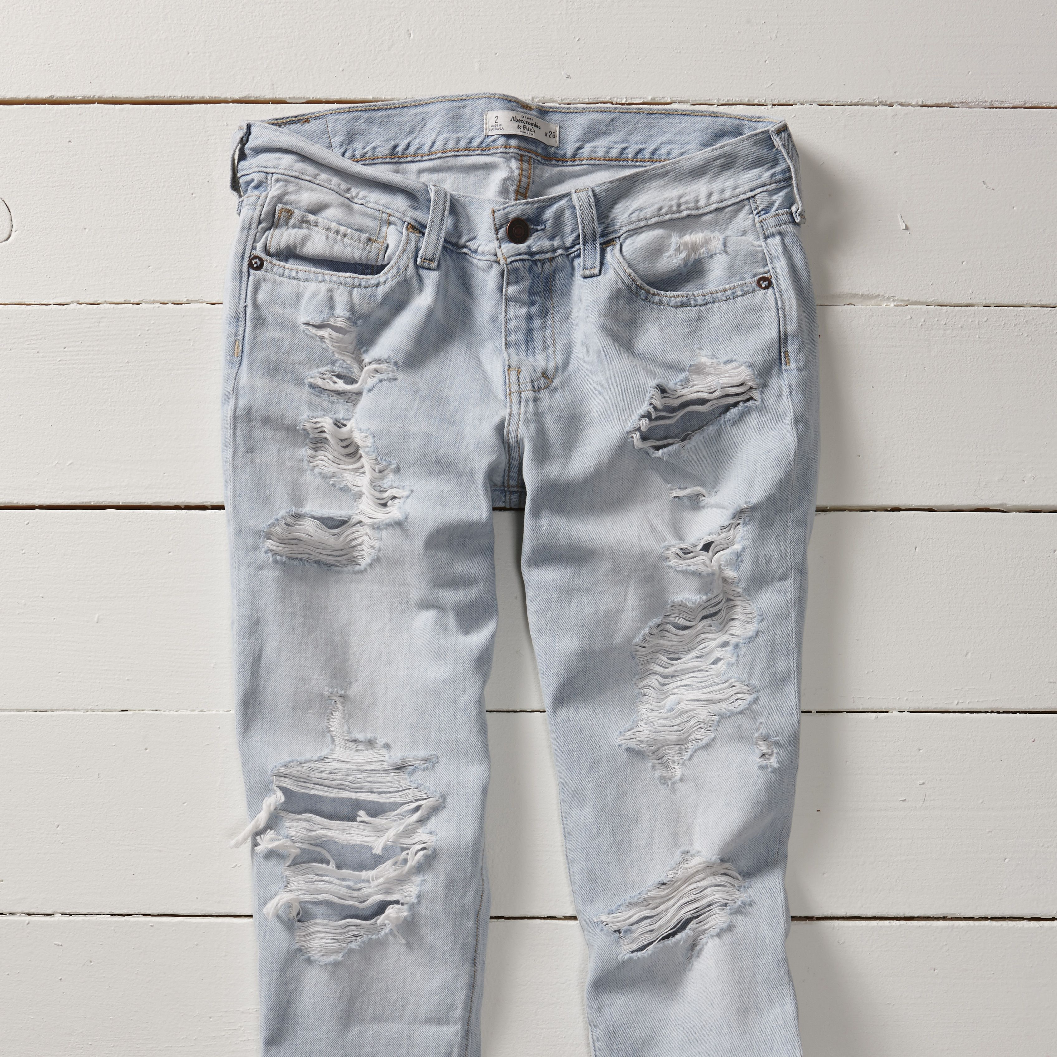 Destroyed Jeans are SO in for Spring. #EveryItFit #WornandTorn