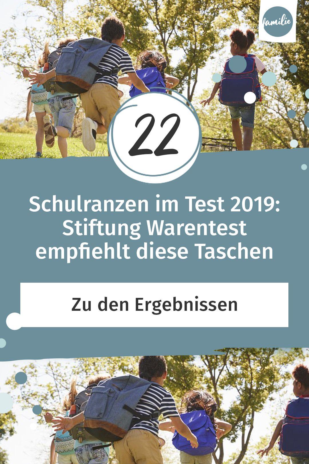 Schulranzen Test Stiftung Warentest Empfiehlt Diese Schulranzen Schulranzen Schulalltag Schulkinder
