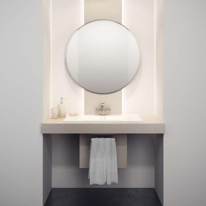 HIB Rondo Circular Bathroom Mirror