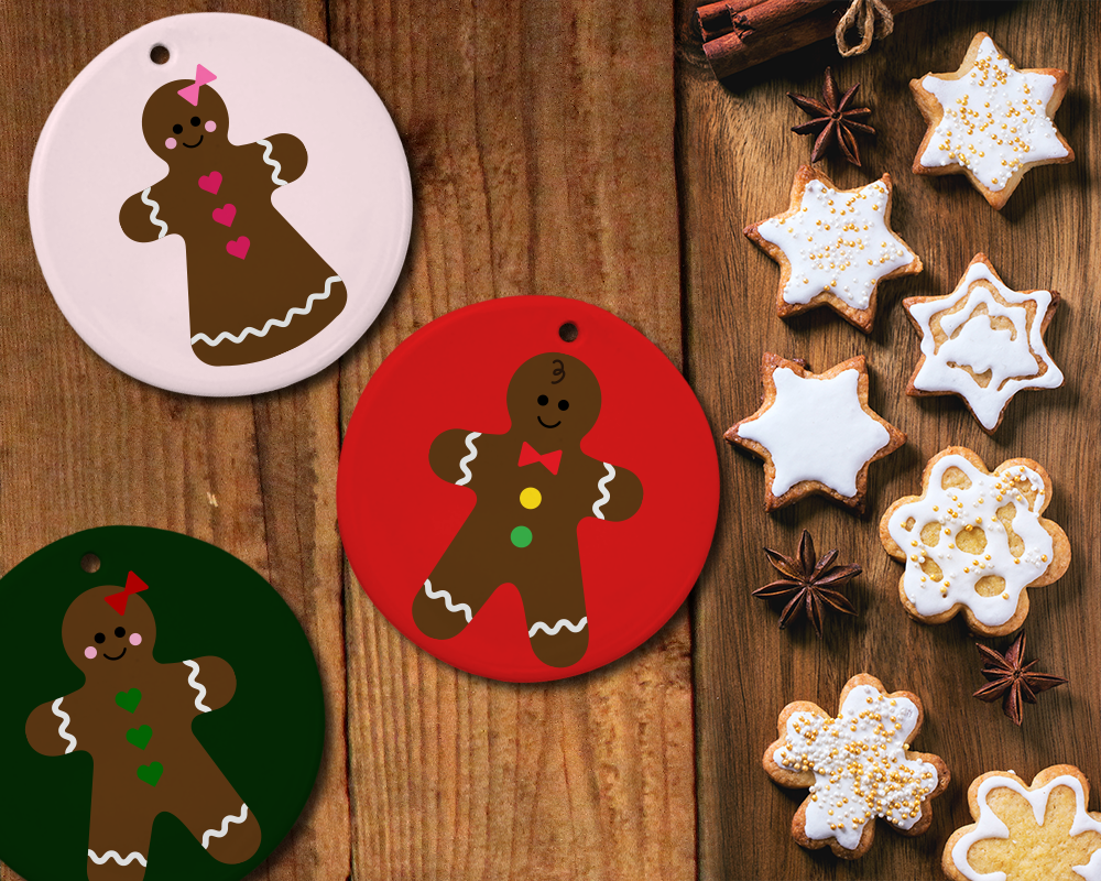 Gingerbread Boy and Girl SVG File Template Set Boy or