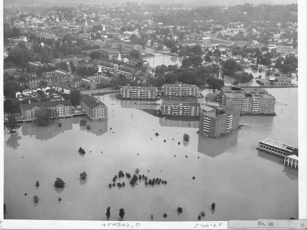 Athens ohio ohio university 1968 flood lakeview apts