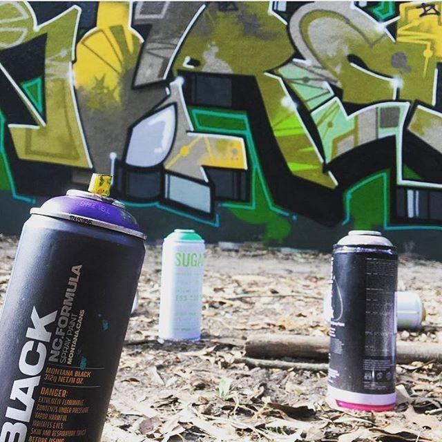 Nice day for a spray. #slikbone #graffiti #ironlak #stickerbomb #urbex #fuckthesystem #streetart #stickers #streetwear