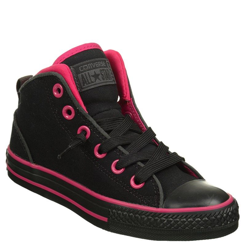 4e9e5d21aa09 Converse Kids  Chuck Taylor All Star Static Mid Top Sneakers (Black Pink) -  12.0 M