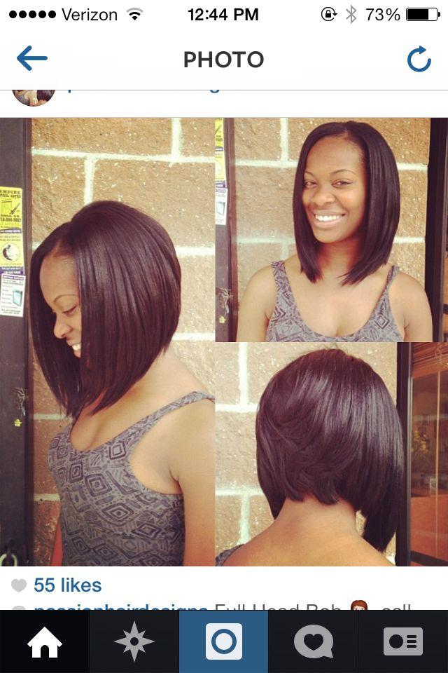 Bob Haircut For Black Women Hairstyles Pinterest Black Women
