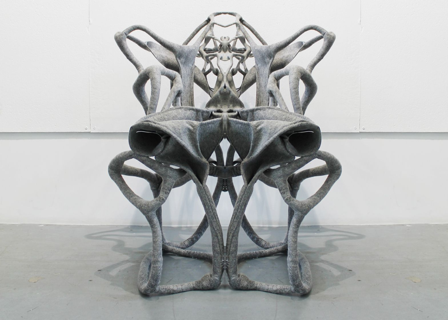 Fabrick felt composite can be moulded into self-supporting chairs