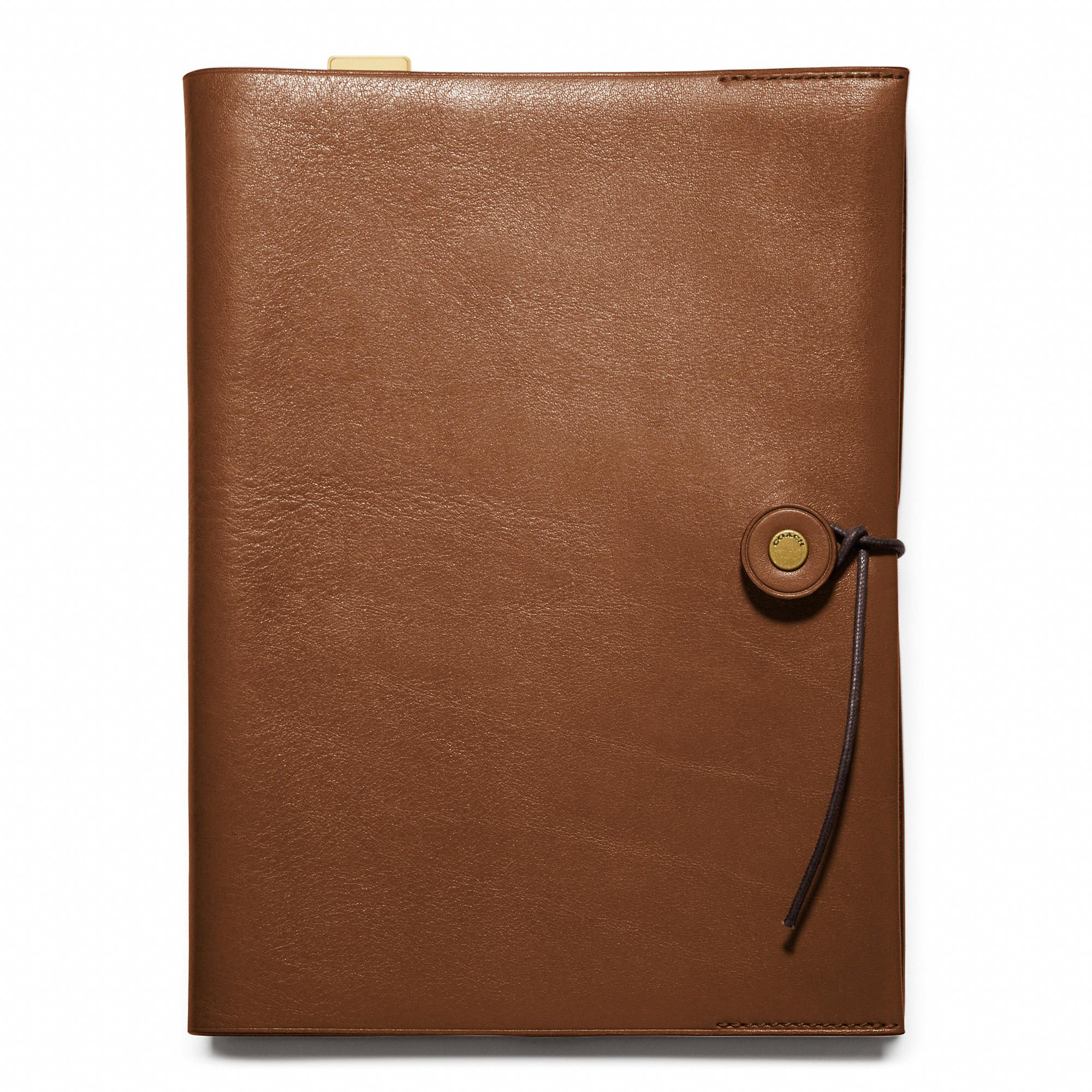 Coach :: BLEECKER A5 NOTEBOOK IN LEATHER