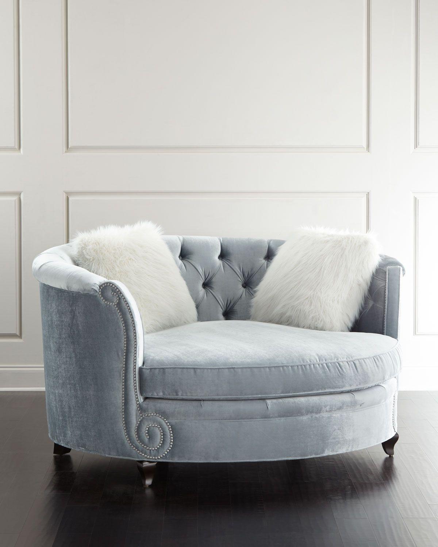 Bon Haute House Harper Tufted Cuddle Chair