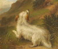 Terrier and Retrievers pair by George Armfield