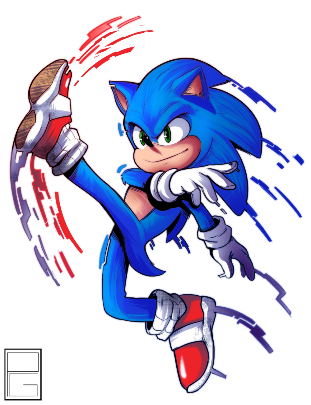 Paulo Gazola on is part of Sonic and shadow, Sonic, Sonic mania, Sonic fan art, Sonic the hedgehog, Hedgehog art - E pra testar a nova Wacom, tinha que ser esse carinha! MadeWithWacom SonicMovie""