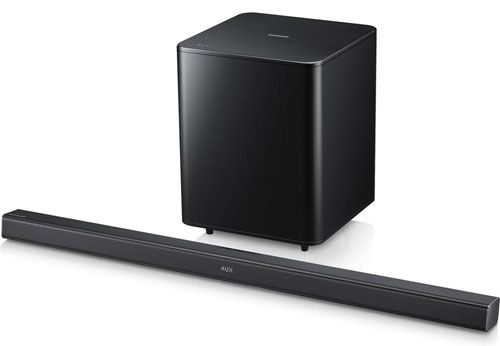 The Samsung HW-F550 is a powered 2.1-channel home theater sound bar with wireless subwoofer, Bluetooth® and plenty of features. Read the full Samsung HW-F550 review. #samsung #samsungsoundbars #soundbars #samsunghwf550
