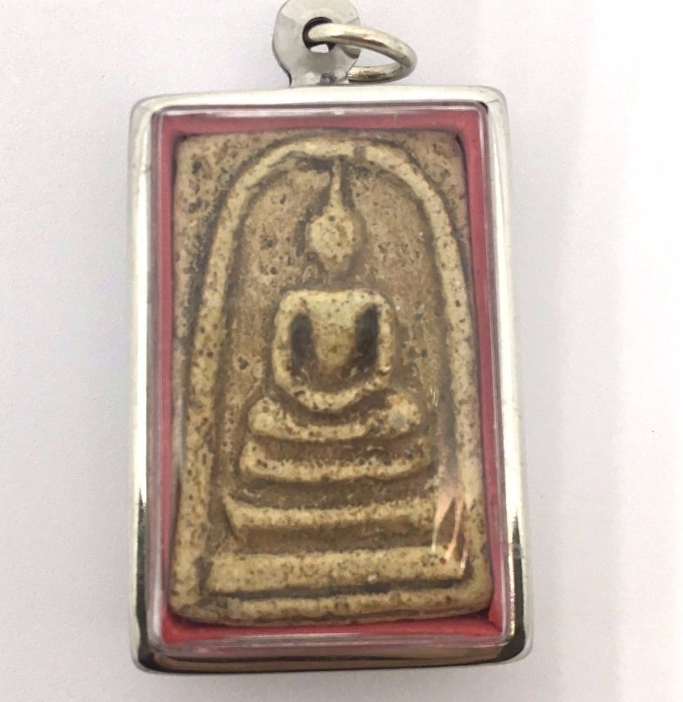 Somdej Amulet Buddha Lp Phra Old Wat Magic Rare Luck Protect Pestilence Thailand