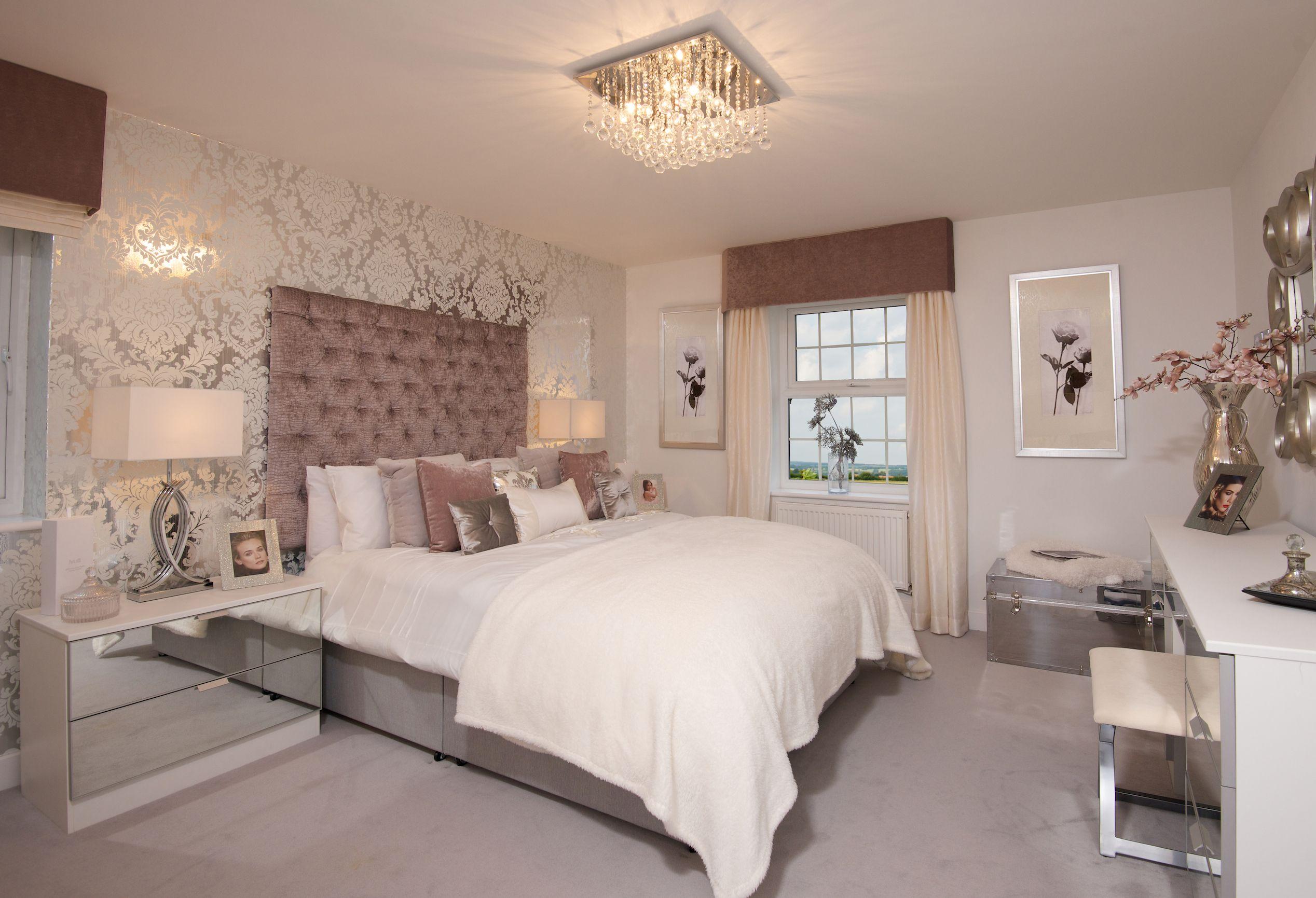 An opulent bedroom interior from david wilson homes k for Opulent bedrooms