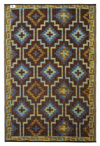 Fab Habitat 4 Feet By 6 Feet Lhasa Indoor Outdoor Rug Royal Blue And Chocolate Brown By Fab Habitat Fab Rug Http Www Fab Habitat Outdoor Rugs Indoor Rugs