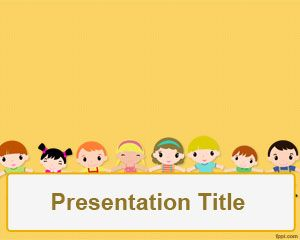 Childrens day powerpoint template is a free orange template with childrens day powerpoint template is a free orange template with children illustration that you can download toneelgroepblik Image collections