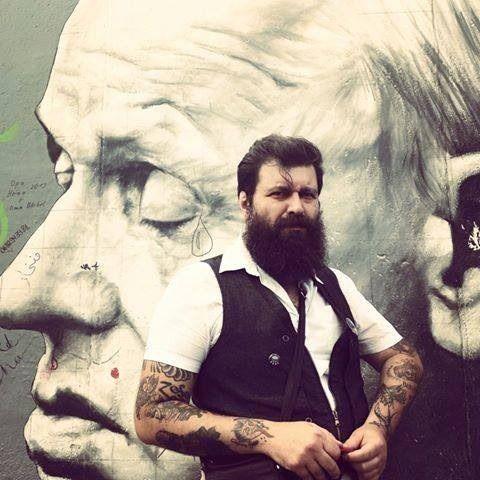 full thick dark beard beards bearded man men tattoo tattoos tattooed