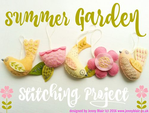 jenny blair summer garden free stitching tutorial
