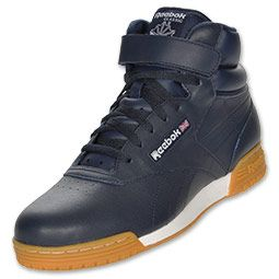 The Reebok Ex-O-Fit Mid Men's Lifestyle Shoes will help you become a trendsetter...if you're not there already. The retro shoe is huge on style and the laces even match the shoe's upper. The mid silhouette can't be missed while the classic full leather shoe offers unmatched durability and craftsmanship. The upper strap helps secure your foot for a customized fit.