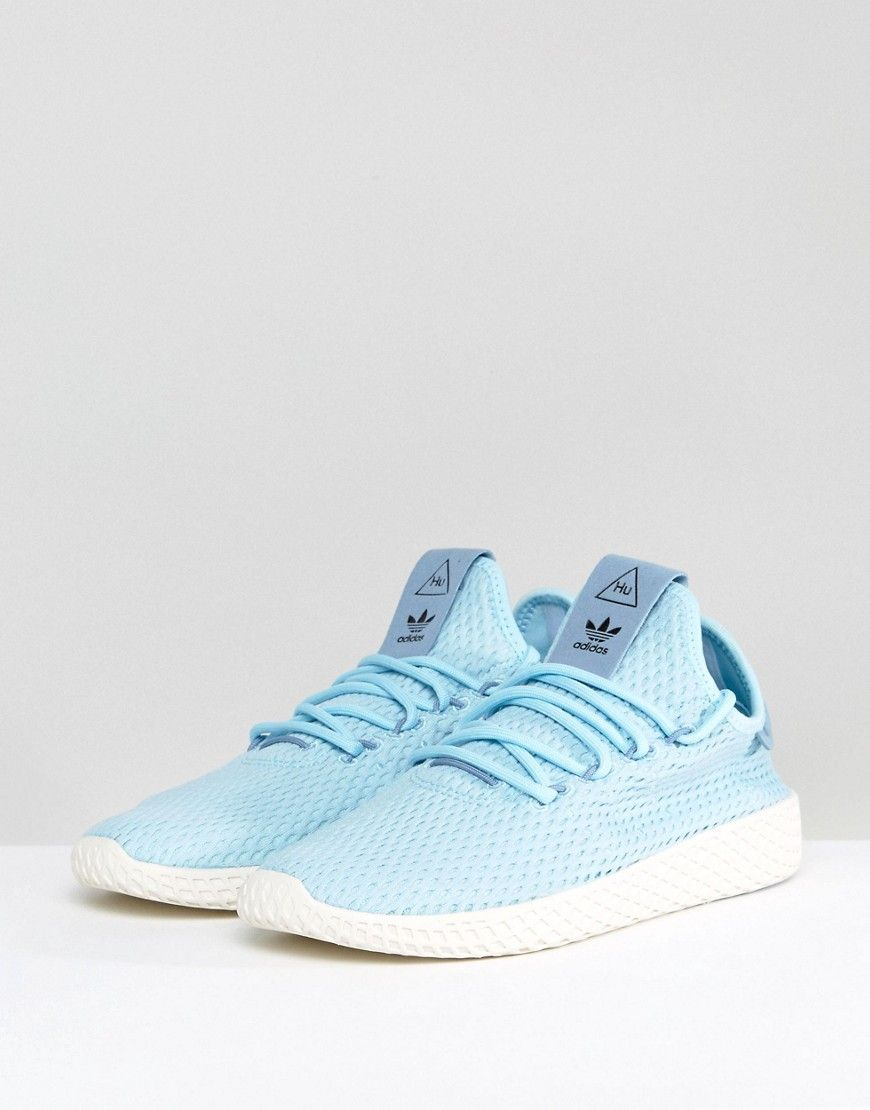c52e17e23 adidas Originals X Pharrell Williams Tennis HU Sneakers In Icey Blue ...